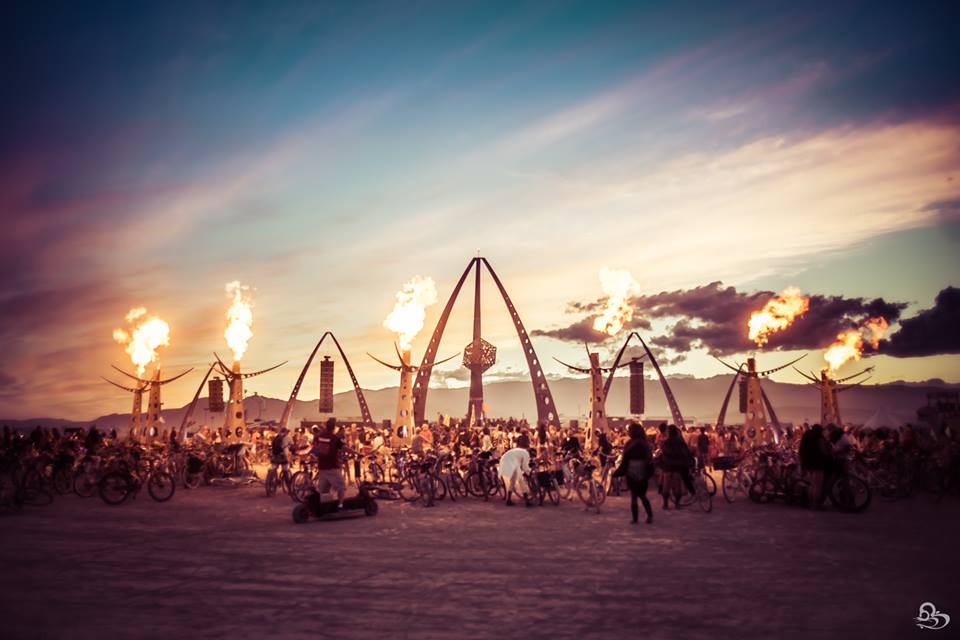 White Ocean op Burning Man