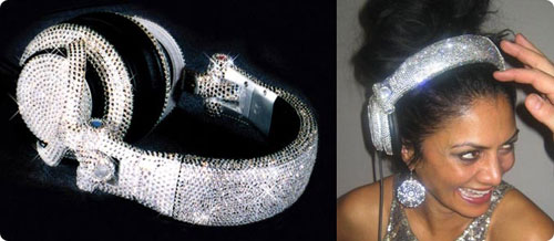 bling bling headphone